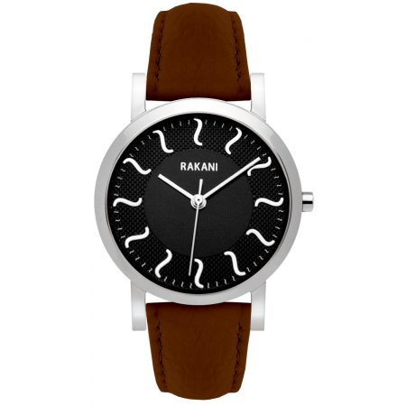 ISH - Black Watch w/ Dark Brown Leather (40mm)