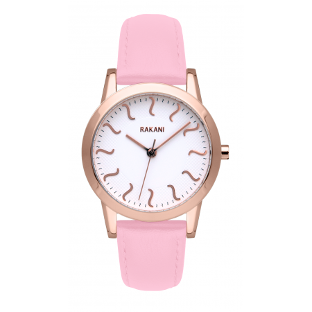 ISH - Rose Gold Watch w/ Pink Rose Leather (32mm)