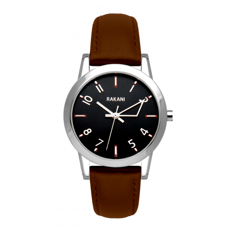 +5 - Black Watch w/ Dark Brown Leather (32mm)