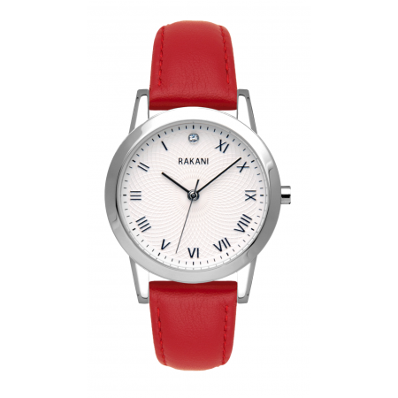 Running Behind - Lotus Watch w/ Red Leather (32mm)