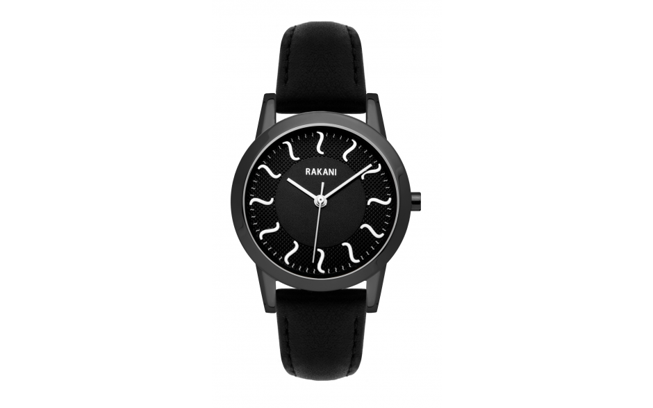 ISH - Black Watch w/ Black Steel Case and Leather Band (32mm)