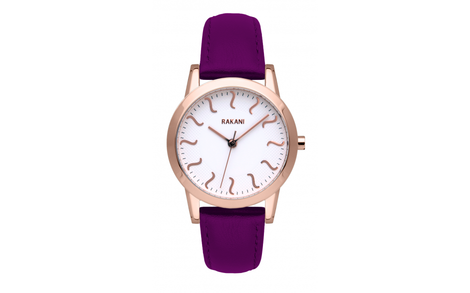 ISH - Rose Gold Watch w/ Purple Leather (32mm)