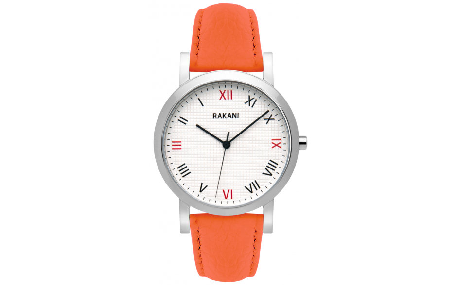 Running Behind - Checkered Watch w/ Orange Leather (40mm)