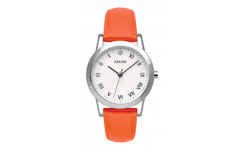 Running Behind - Lotus Watch w/ Orange Leather (32mm)