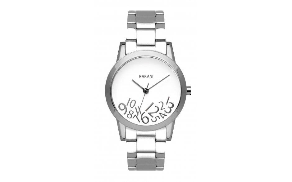 What Time? - Silver on White Watch w/ Stainless Steel (32mm)