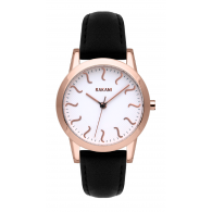 ISH - Rose Gold Watch w/ Black Leather (32mm)