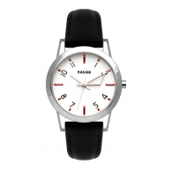 +5 - White Watch w/ Black Leather (32mm)