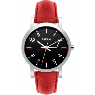 +5 - Black Watch w/ Red Leather (40mm)