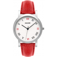 Running Behind - Checkered Watch w/ Red Leather (40mm)