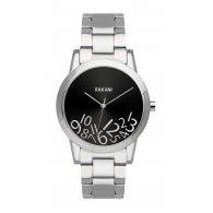 What Time? - Silver on Black Watch w/ Stainless Steel (32mm)