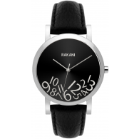 What Time? - Silver on Black Watch w/ Black Leather (40mm)
