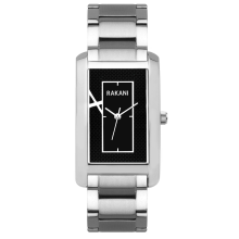 Right Around The Corner - Black Rectangle Watch w/ Stainless Steel (46mm)