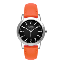 ISH - Black Watch w/ Orange Leather (32mm)