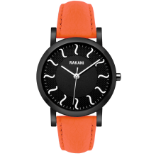 Black Watch w/ Black Steel Case and Orange Leather (40mm)