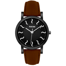 Black Watch w/ Black Steel Case and Dark Brown Leather (40mm)