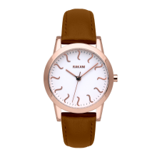 ISH - Rose Gold Watch w/ Light Brown Leather (32mm)