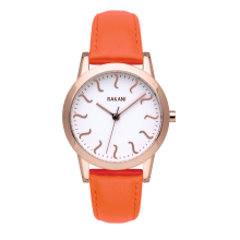 ISH - Rose Gold Watch w/ Orange Leather (32mm)