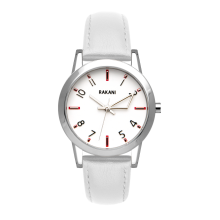 +5 - White Watch w/ White Leather (32mm)