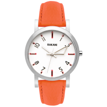 +5 - White Watch w/ Orange Leather (40mm)