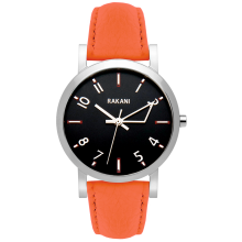 +5 - Black Watch w/ Orange Leather (40mm)