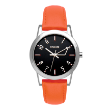 +5 - Black Watch w/ Orange Leather (32mm)