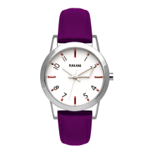 +5 - White Watch w/ Purple Leather (32mm)