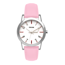 +5 - White Watch w/ Pink Rose Leather (32mm)