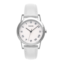 Running Behind - Lotus Watch w/ White Leather (32mm)