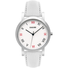 Running Behind - Checkered Watch w/ White Leather (40mm)