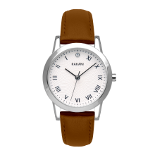Running Behind - Lotus Watch w/ Light Brown Leather (32mm)