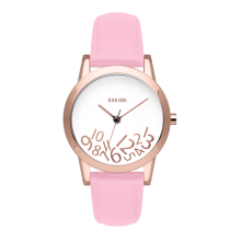 What Time? - Rose Gold on White Watch w/ Pink Rose Leather (32mm)